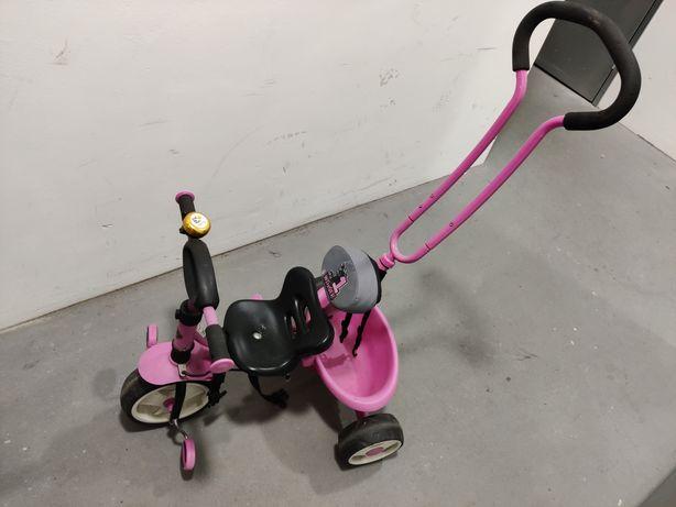 Rowerek trójkołowy z rączką