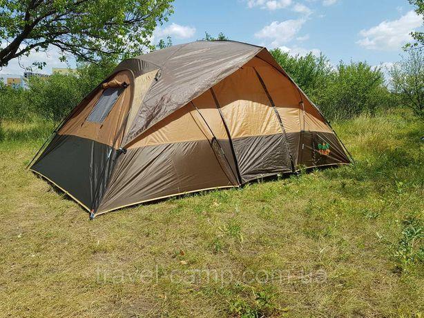 Подарок!Палатка туристическая четырехместная, двухкомнатная Green Camp