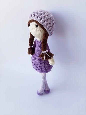 Мягкая кукла с косичками ручной работы Софи 28 см
