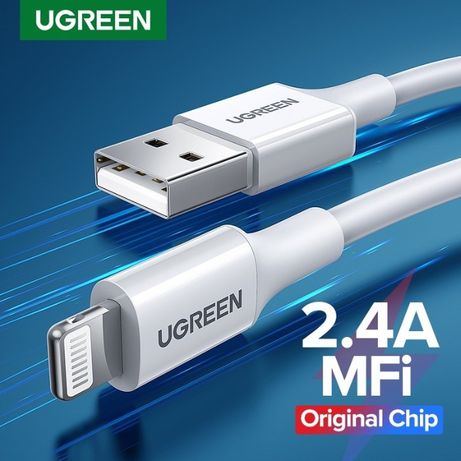 Ugreen кабель зарядный MFi сертифицированный lightning 1.5М Белый