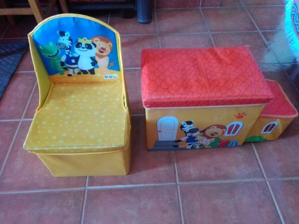 Conjunto de 2 Caixas de arrumação Panda