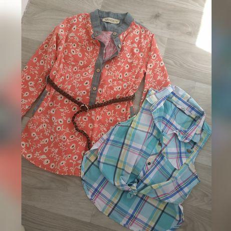 Рубашка для девочек короткий и длинный рукав