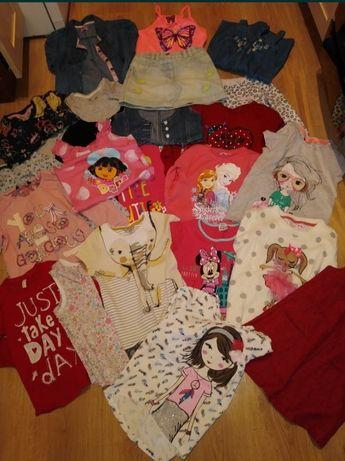 Paka ubrań 3-4, 98-104 ciuszki dziewczynka bluzki koszulki h&m