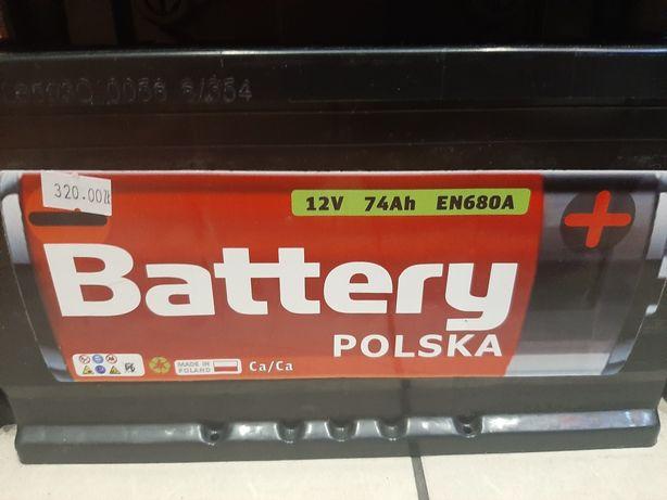 Akumulator 74ah 2 lata gwarancji tylko 330zł MINUS RABAT 10% DO 31.10