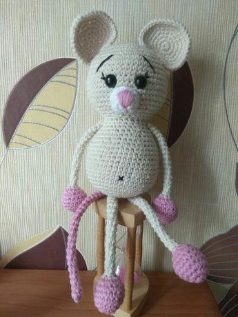 Мягкая игрушка мышка. Ручной работы.