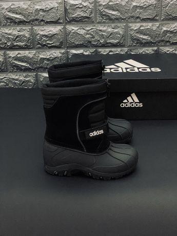 Сапоги Адидас Сноубутсы Adidas зимние Термосапожки Ватерпруфты Чобітки
