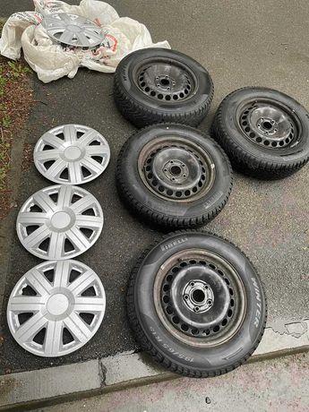 Диски р15 5*112 с зимней резиной Pirelli Cinturato Winter 195 65 15