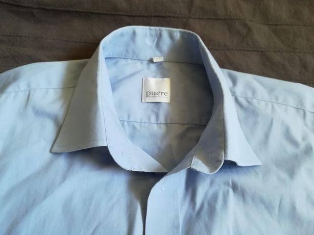 Koszula męska z krótkim rękawem. Elegancka do marynarki