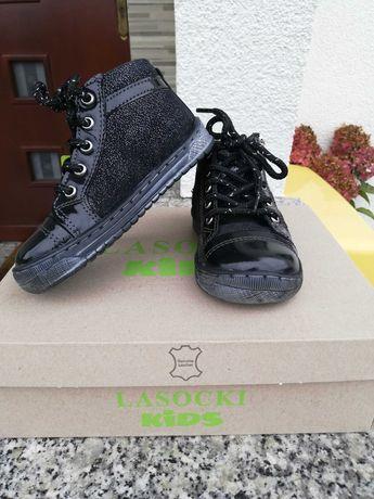 Buty czarne dla dziewczynki Lasocki Kids r. 22