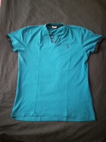 koszulka polo ralph lauren morska rozmiar M