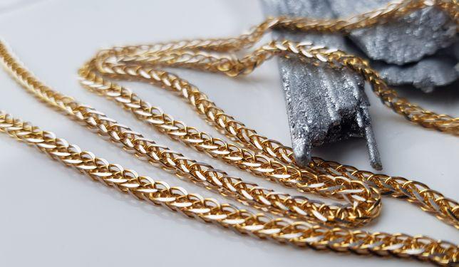 OBŁĘDNY złoty łańcuszek LISI OGON pr.585 OPIS!