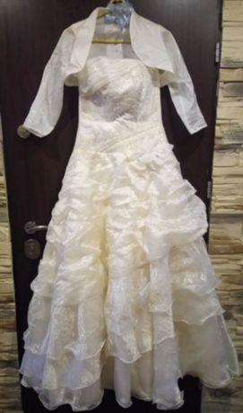 Suknia ślubna kolor ecru + dodatki