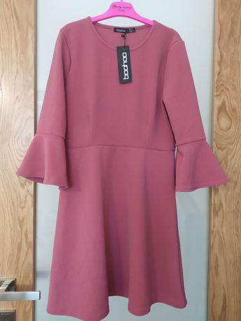 Nowa Sukienka Boohoo różowa 40/42