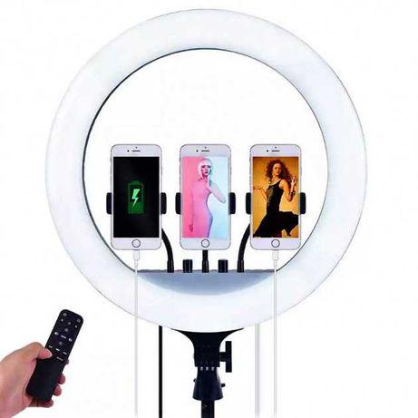 Кольцевая светодиодная LED RGB лампа 45см+пульт+штатив.4200руб