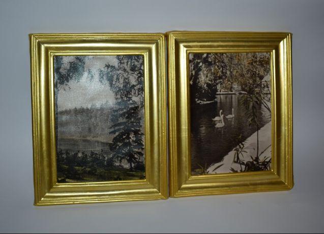 "2 фото-этюда ""речка в лесу"" и ""парк ахам афани зимой"" тбилиси 1961 го"