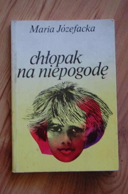 """Książka """"Chłopak na niepogodę"""", Maria Józefacka"""
