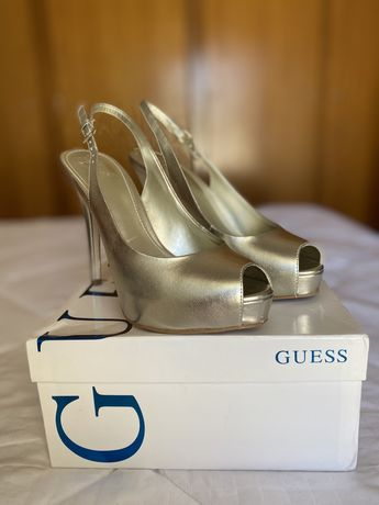 Sapatos Guess T37 Platina, novos !!