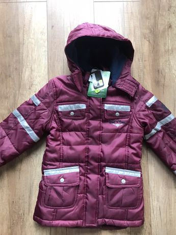 Nowa kurtka dla dziewczynki jesienna zimowa odblaskowa lidl 6-7 lat