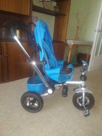 Детский велосипед коляска. 10000руб как новый