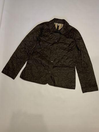 Женская стеганая куртка стеганка Burberry london nova check prada barb