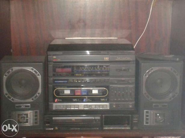 Gira discos+colunas+Video VHS