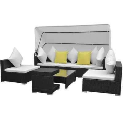 Sofá  Lounge para jardim com toldo (7 peças) **envio grátis**