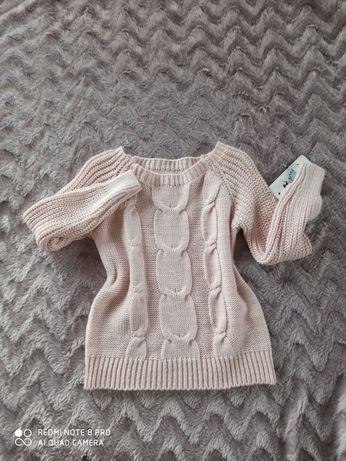 Sweterek różowy 98/104