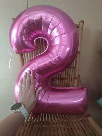 Balão 2 anos aniversário rosa