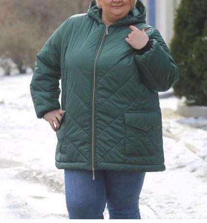 Женская курточка жемчужно-какаовый цвет , 70 размер
