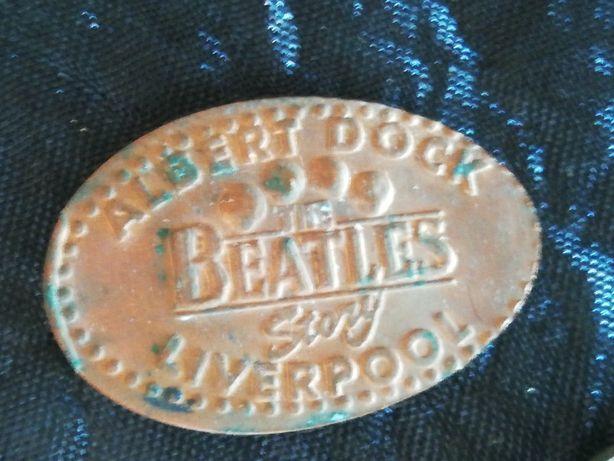 2 Chapas de Metal Antigas Beatles Beatles Story Liverpool Penny Land