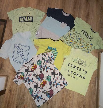 Zestaw 7 szt.  koszulki T-shirty chłopięce Reserved SMYK na 158-164