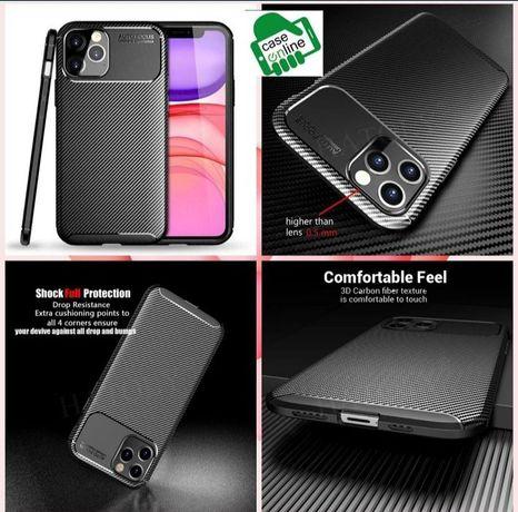 Capa Fibra Carbono iPhone XS Max / 12 Mini / 12 / 12 Pro / 12 Pró Max