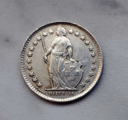 173) SZWAJCARIA - 1/2 Franka - 1950 r.