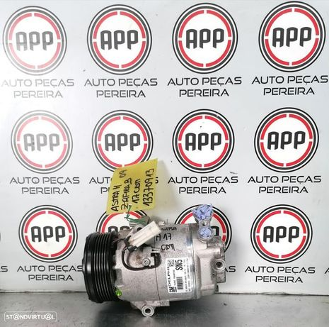 Compressor ar condicionado Opel Astra H 2009 1.7 CDTI Delphi referência 13370913.