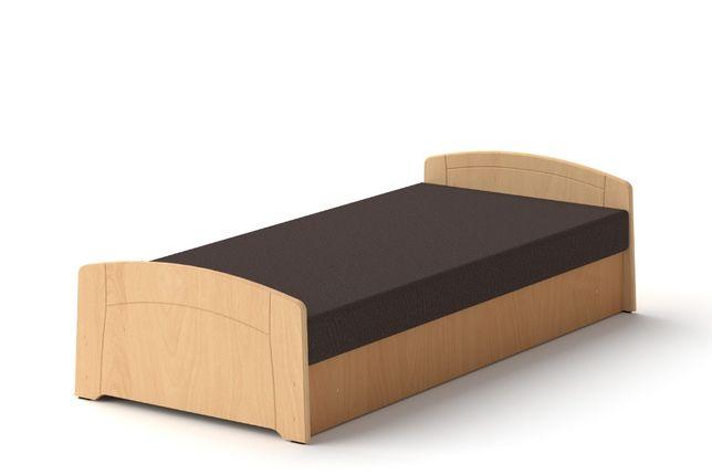 Łóżko M 90 x 200 Buk tapczan z materacem