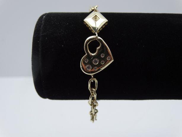 Piękna złota bransoletka P585 6,35g 20cm LOMBARD66