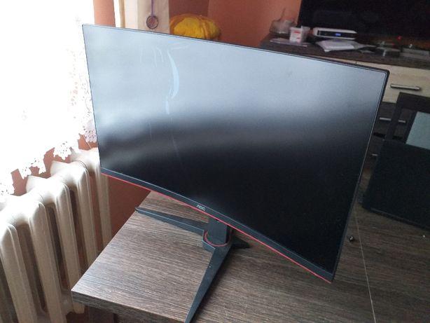 Monitor LED 27 cali zakrzywiony curved C27G1 CZYTAJ UWAŻNIE USZKODZONY