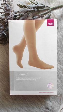 Компрессионные чулки medi Duomed открытый носок, L размер