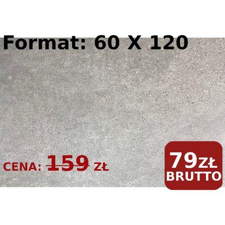 Płyty Płytki Tarasowe Chodnikowe 60x120 Optimal Antracite 20MM Paradyż