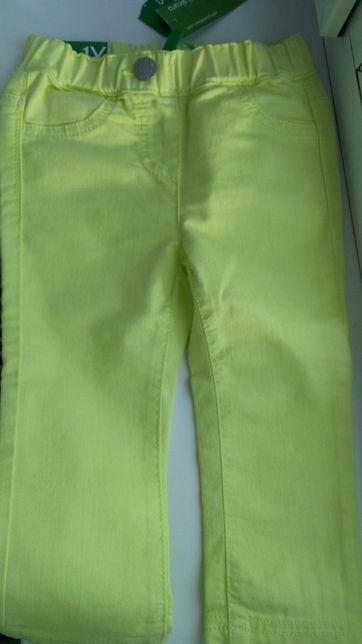 Нові штани Benetton для дівчинки 1-2 роки 82см