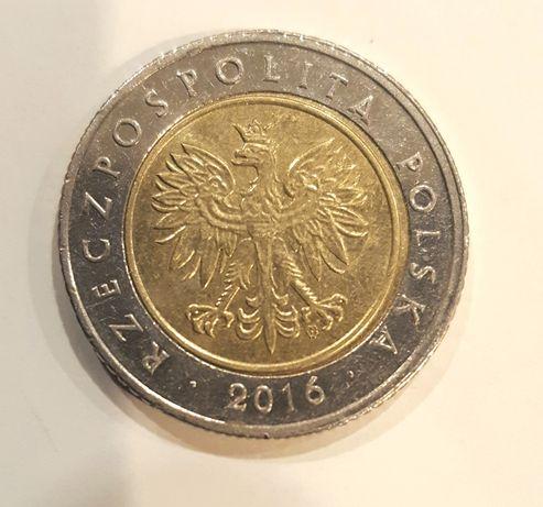 Moneta destrukt 5 złotych