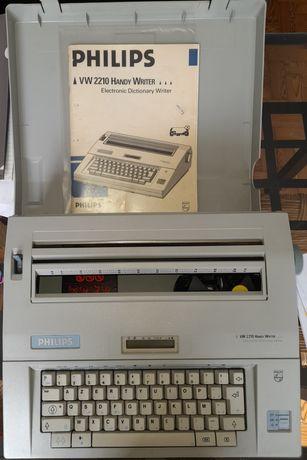 Máquina de escrever elétrica com manual Philips