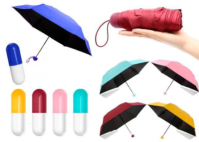 Мини зонт капсула карманный в чехле компактный зонтик в капсуле
