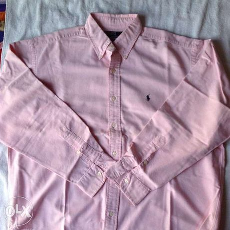 "Camisa - "" Ralph Lauren"" - Rosa - Novo"