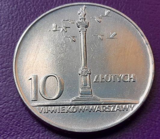 Moneta/Monety - PRL 10 ZŁOTYCH 1966 - MAŁA KOLUMNA -Piękna! -Oryginał!