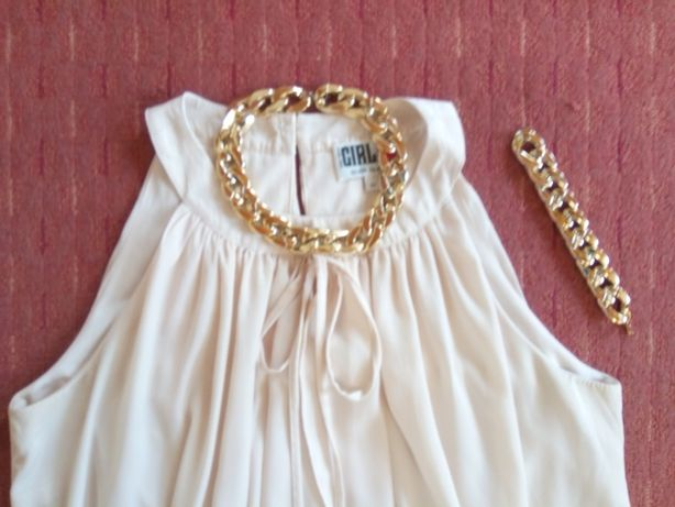 sukienka- bluzka kremowa S +gratis