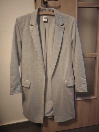 Płaszcz, kardigan marynarka szary, Vero Moda, rozmiar S, 36, kieszenie