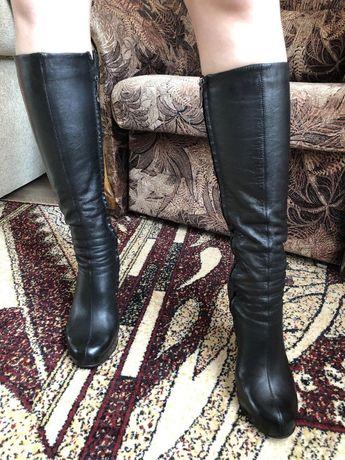 Сапоги кожаные, 39 размер