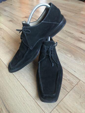Buty męskie pantofle naturalny zamsz Gino Rossi 45