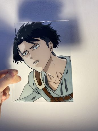 Levi Ackerman glass painting anime Attack on titan/ shingeki no Kyojin